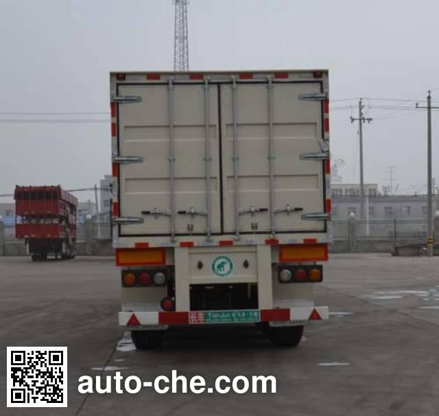 Tianjun Dejin TJV9408XXYF box body van trailer