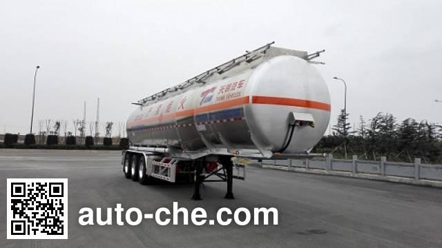 天明牌TM9404GRYYC2铝合金易燃液体罐式运输半挂车