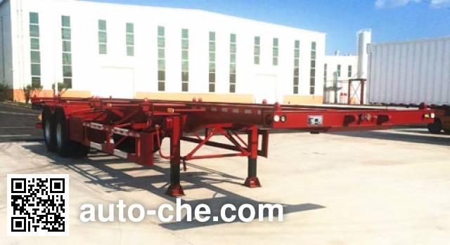 Tuqiang TQP9350TWY dangerous goods tank container skeletal trailer