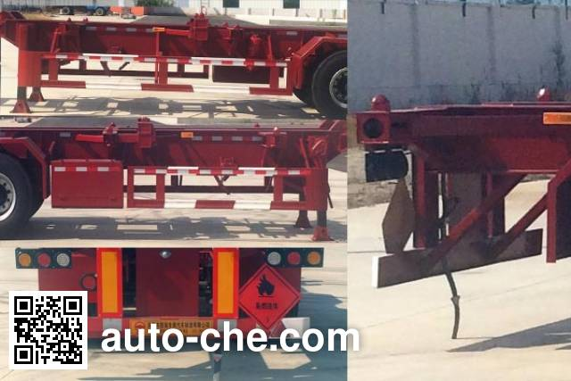 Tuqiang TQP9401TWY dangerous goods tank container skeletal trailer