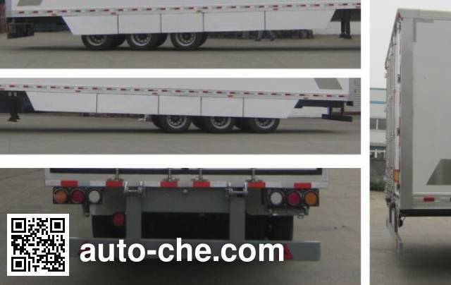 Mailong TSZ9393XXY box body van trailer