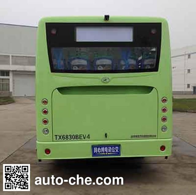 同心牌TX6830BEV4纯电动城市客车