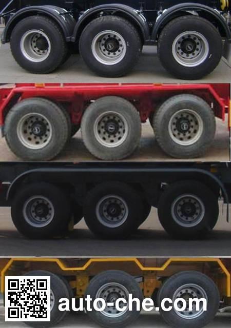 Liangyi TYK9400ZZXP flatbed dump trailer