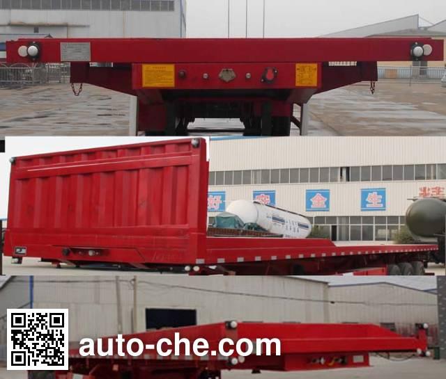 Liangyi TYK9401ZZXP flatbed dump trailer