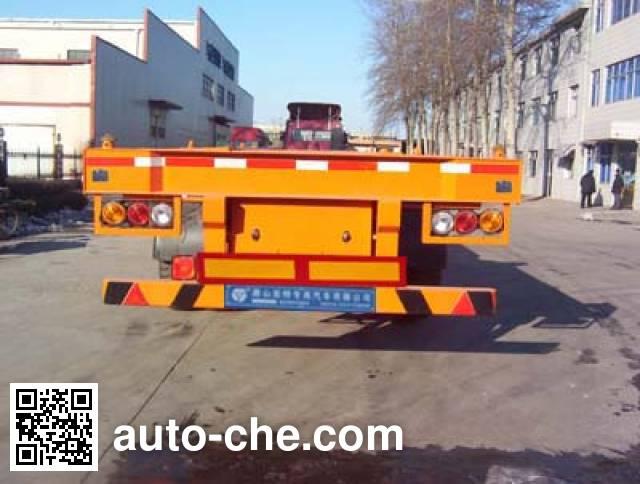 亚特重工牌TZ9350TJZ集装箱运输半挂车
