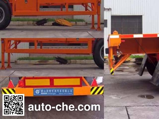 亚特重工牌TZ9370TJZG集装箱运输半挂车