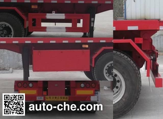 Wodeli WDL9350ZZXP flatbed dump trailer