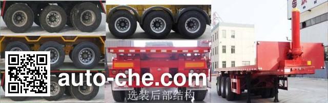 Wodeli WDL9402ZZXP flatbed dump trailer