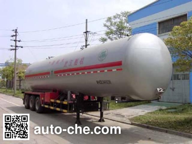 四六牌WHC9341GTR永久气体运输半挂车
