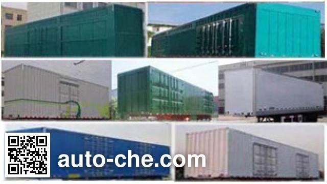 Junwang WJM9370XXY box body van trailer