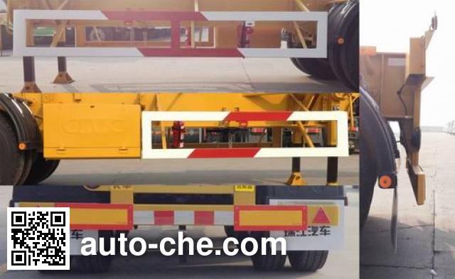RJST Ruijiang WL9400TWYA dangerous goods tank container skeletal trailer