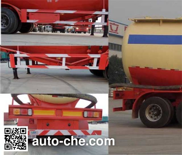 Sanwei WQY9405GFL medium density bulk powder transport trailer