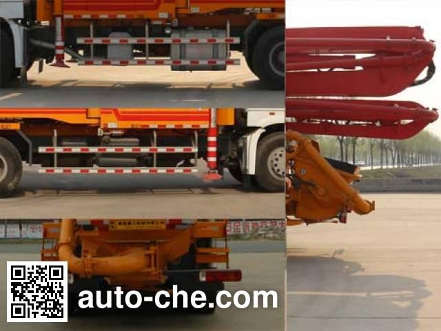 Tonghua WTY5330THB concrete pump truck