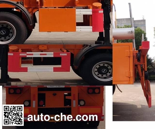 Xiyu WXQ9352GFW corrosive materials transport tank trailer
