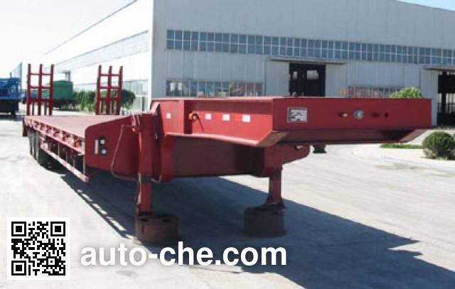 吉平雄风牌XF9400TDP低货台平板半挂车