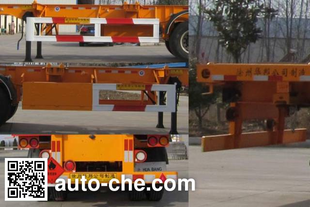 Guoshi Huabang XHB9400TWY dangerous goods tank container skeletal trailer
