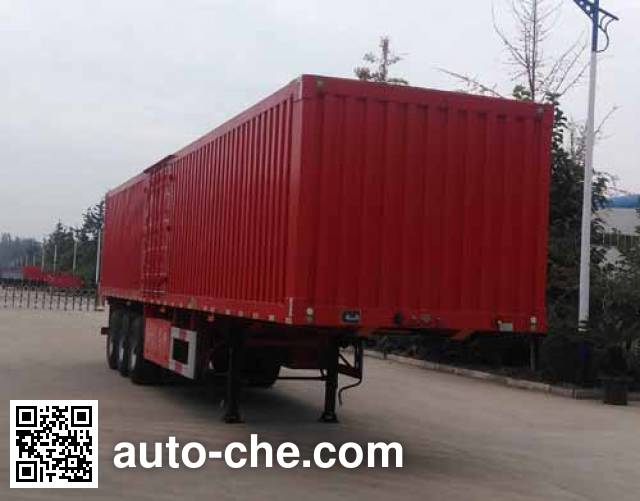 Guoshi Huabang XHB9401XXY box body van trailer