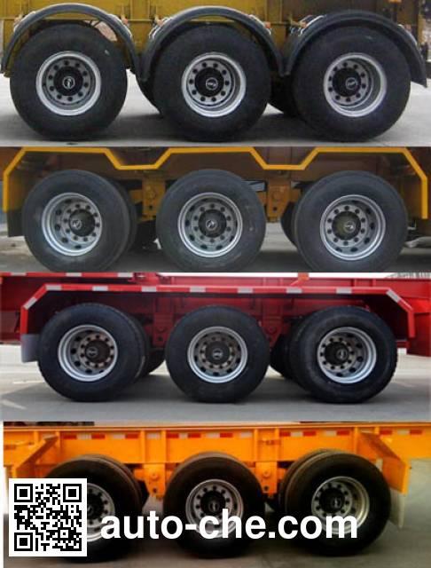 Zhongji Huashuo XHS9400TWY dangerous goods tank container skeletal trailer