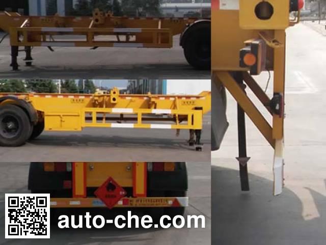 Zhongji Huashuo XHS9401TWYE dangerous goods tank container skeletal trailer
