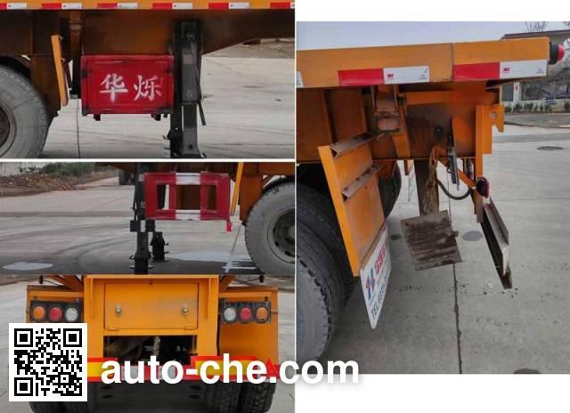 Zhongji Huashuo XHS9404ZZXP flatbed dump trailer