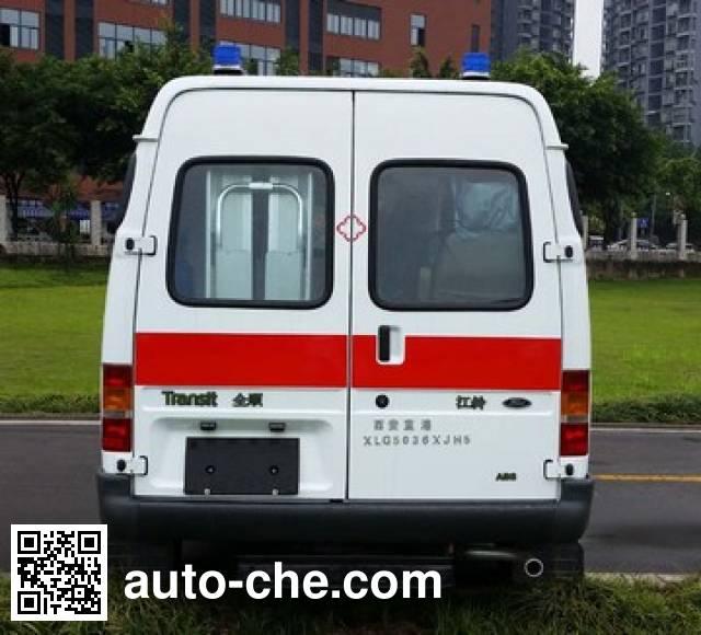 蓝港牌XLG5036XJH5救护车
