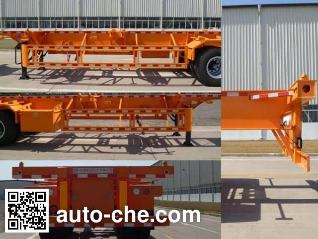 CAMC XMP9350TWY dangerous goods tank container skeletal trailer