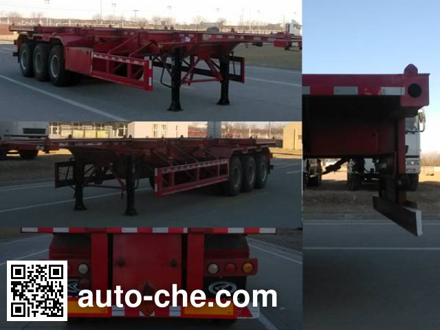 CAMC XMP9401TWY dangerous goods tank container skeletal trailer