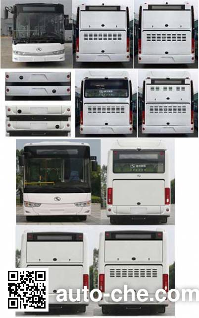金龙牌XMQ6127AGCHEVD56混合动力城市客车