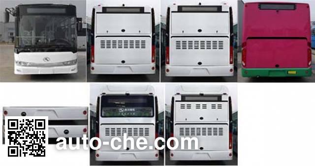 金龙牌XMQ6127AGCHEVN55混合动力城市客车