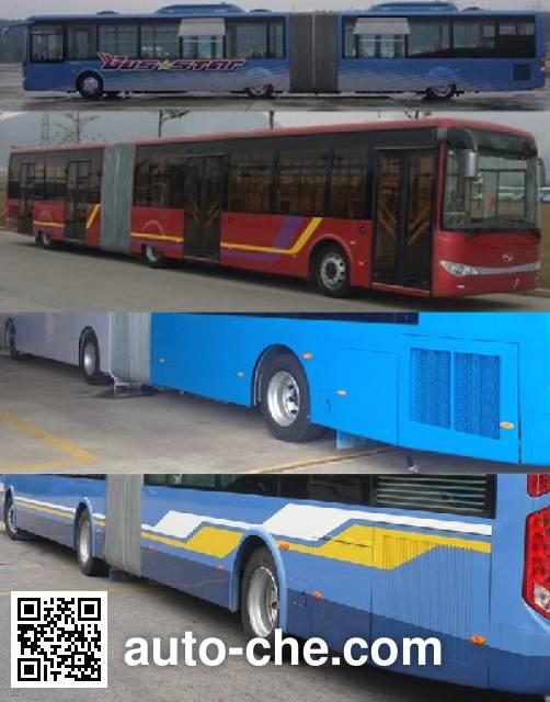 金龙牌XMQ6180AGD4铰接城市客车