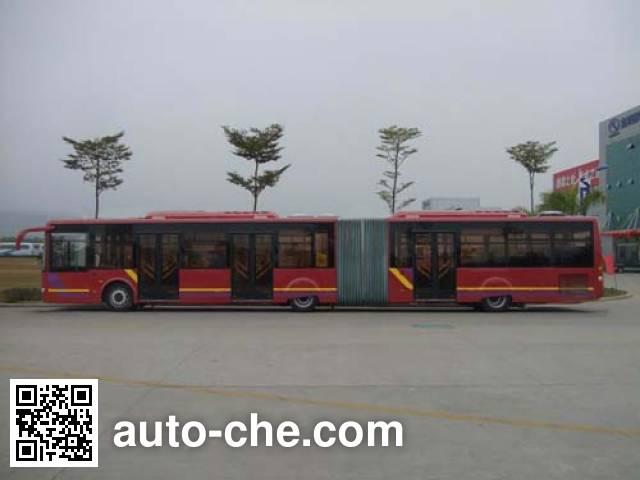 金龙牌XMQ6180AGN5铰接城市客车