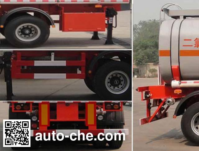 兴扬牌XYZ9400GFW腐蚀性物品罐式运输半挂车