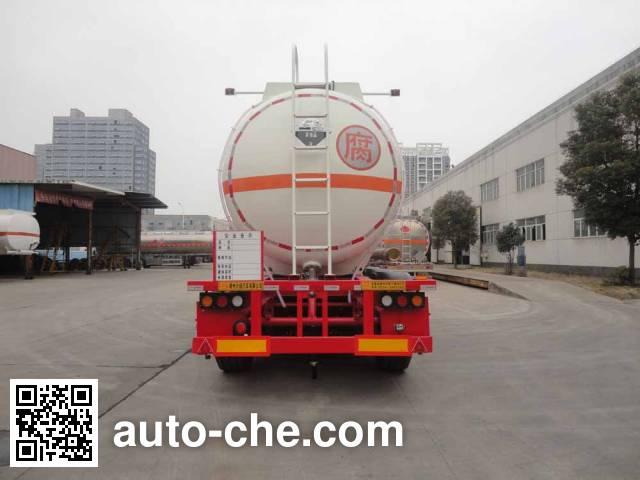 兴扬牌XYZ9406GFW腐蚀性物品罐式运输半挂车