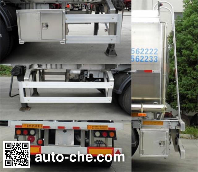 Xingyang XYZ9409GYS aluminium liquid food tank trailer