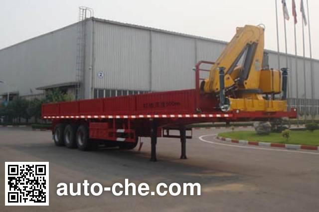 XCMG XZJ9400JSQ flatbed trailer mounted loader crane