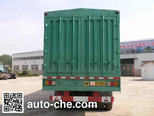 Yuchang YCH9391XXY box body van trailer