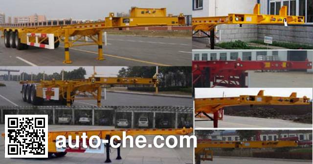 Yuchang YCH9400TWY dangerous goods tank container skeletal trailer