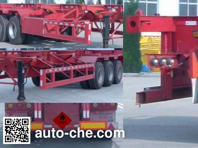 Linzhou YDZ9400TWY dangerous goods tank container skeletal trailer