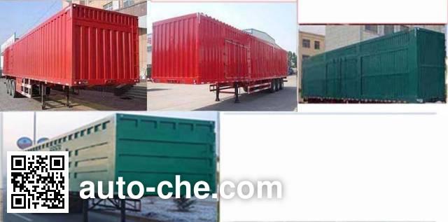 Linzhou YDZ9400XXY box body van trailer