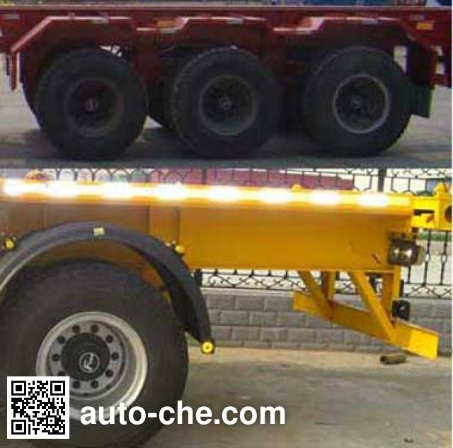 Linzhou YDZ9402ZZXP flatbed dump trailer