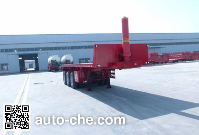 Linzhou YDZ9401ZZXP flatbed dump trailer