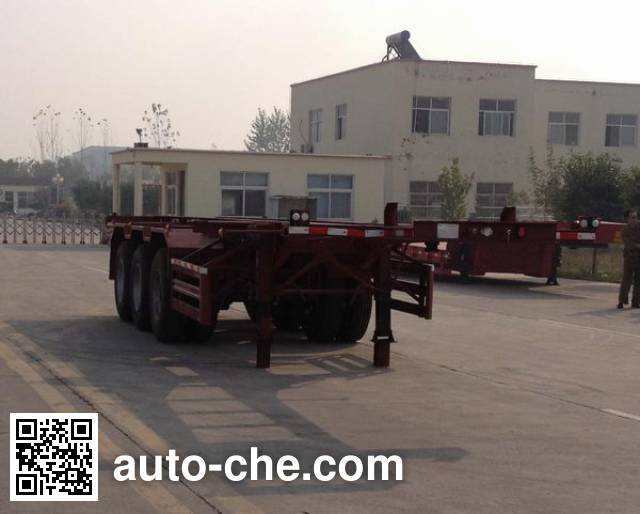 Linzhou YDZ9402TWY dangerous goods tank container skeletal trailer