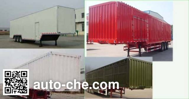 Linzhou YDZ9402XXY box body van trailer