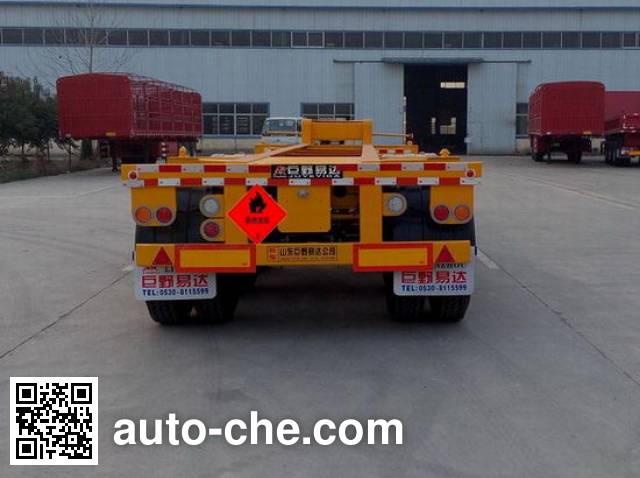 Linzhou YDZ9403TWY dangerous goods tank container skeletal trailer