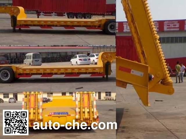 鲁郓万通牌YFW9350TDP低平板半挂车