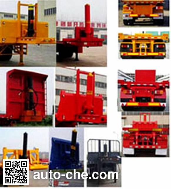 Luyun Wantong YFW9350ZZXP flatbed dump trailer