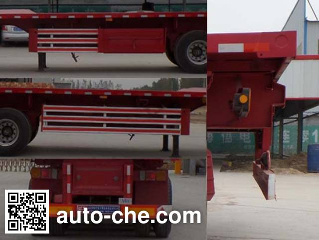 Luyun Wantong YFW9400ZZXP flatbed dump trailer