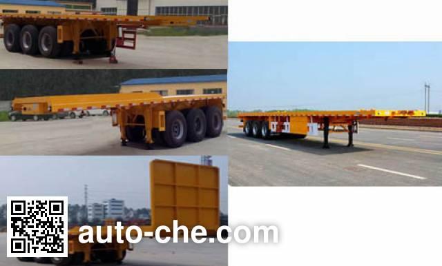 Luyun Wantong YFW9401ZZXP flatbed dump trailer