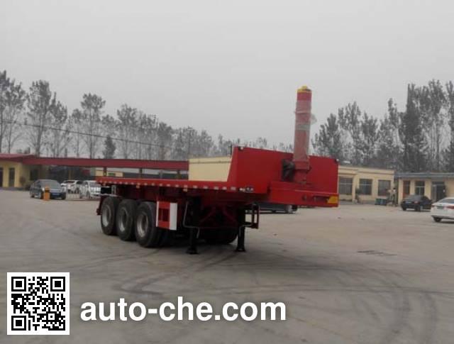 Luyun Wantong YFW9402ZZXP flatbed dump trailer