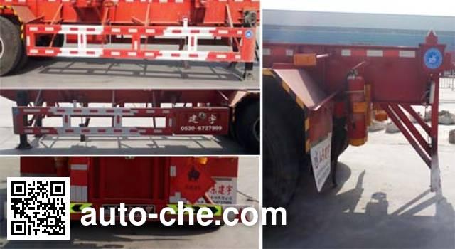 路飞牌YFZ9400TWY危险品罐箱骨架运输半挂车